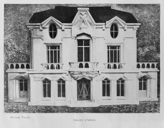 Raymond_Duchamp-Villon,_1912,_Projet_d'hôtel,_Maquette_de_la_façade_de_la_Maison_Cubiste,_published_in_Les_Peintres_Cubistes,_1913